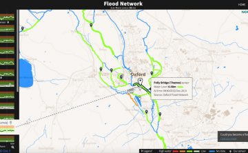IoT technology powers an interactive flood map and sensor network