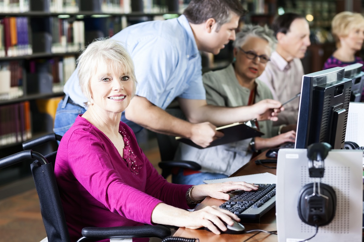 People using computers