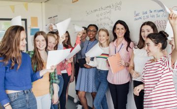 What's the exam result for girls in tech?