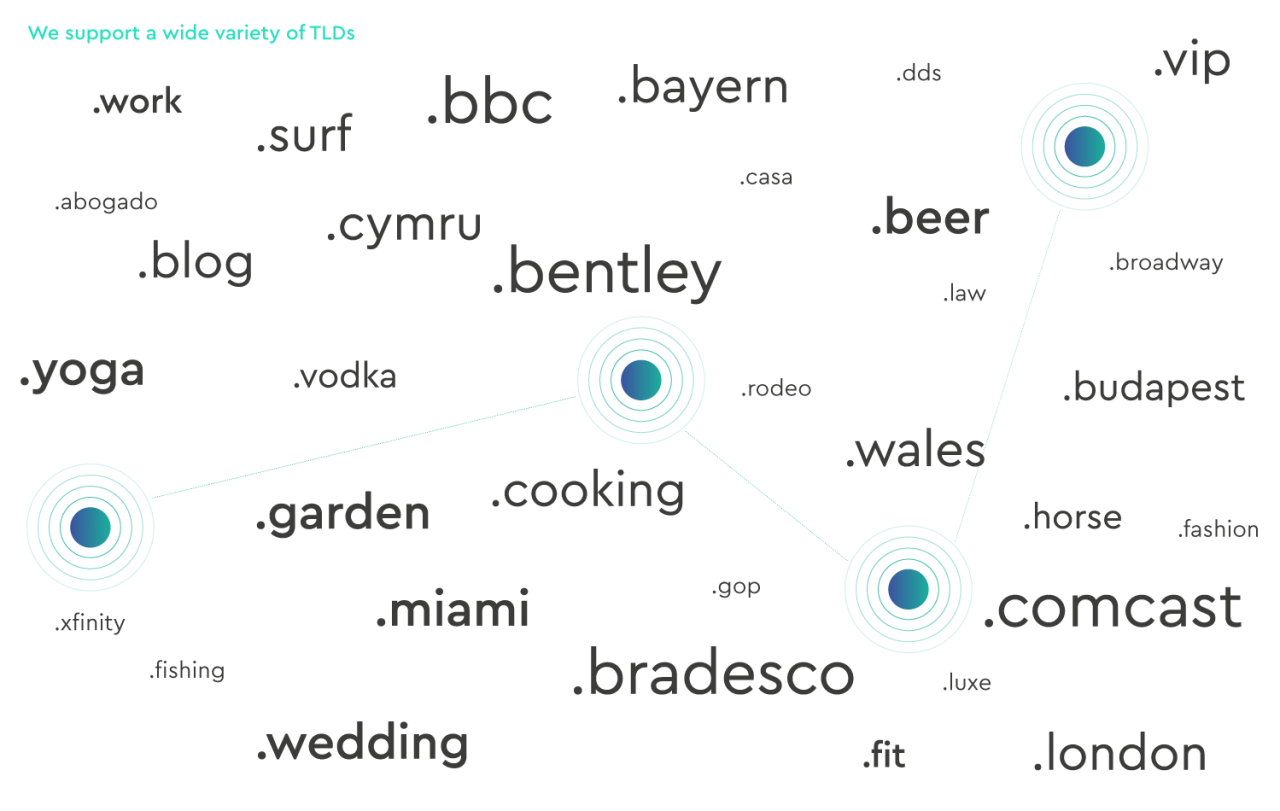 diagram showing examples of TLDs