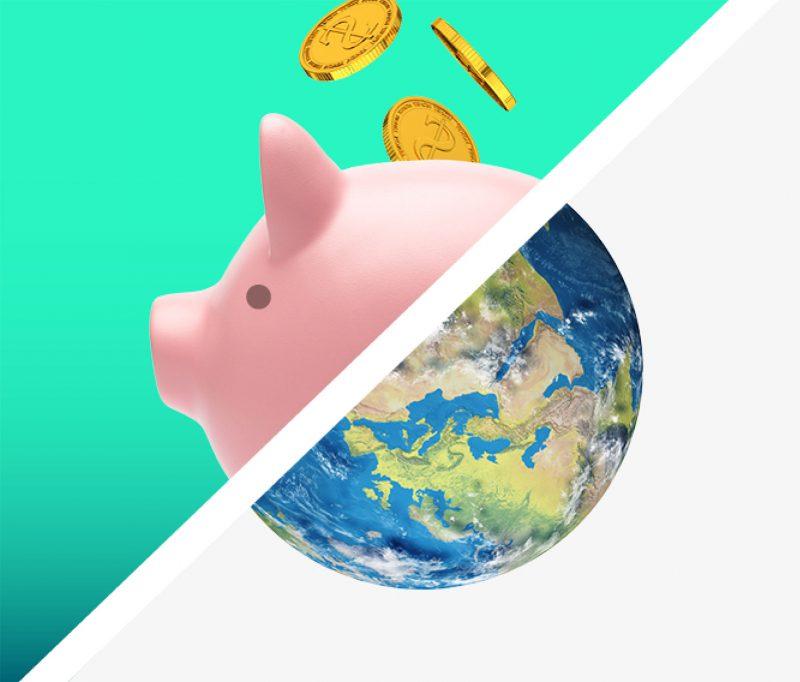 Pink piggybank