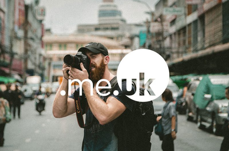 Picture of a photographer who uses a .me.uk domain name