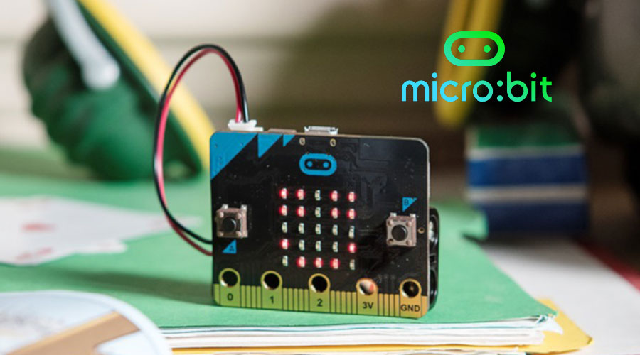 picture of micro:bit on table