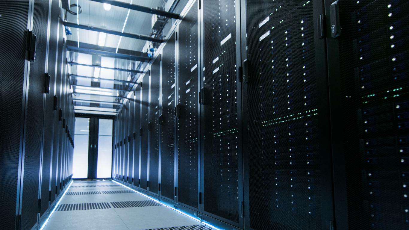 Shot of a Working Data Center