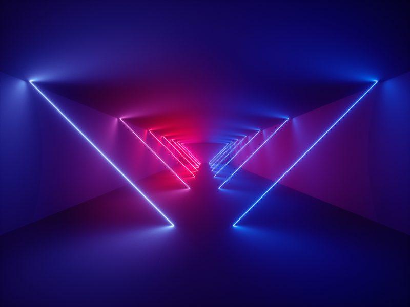 Indoor laser show