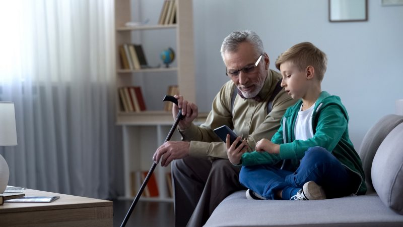 boy and grandparent
