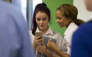 Back to school tech resolutions: a) Review school smartphone policies b) Lessons on social media