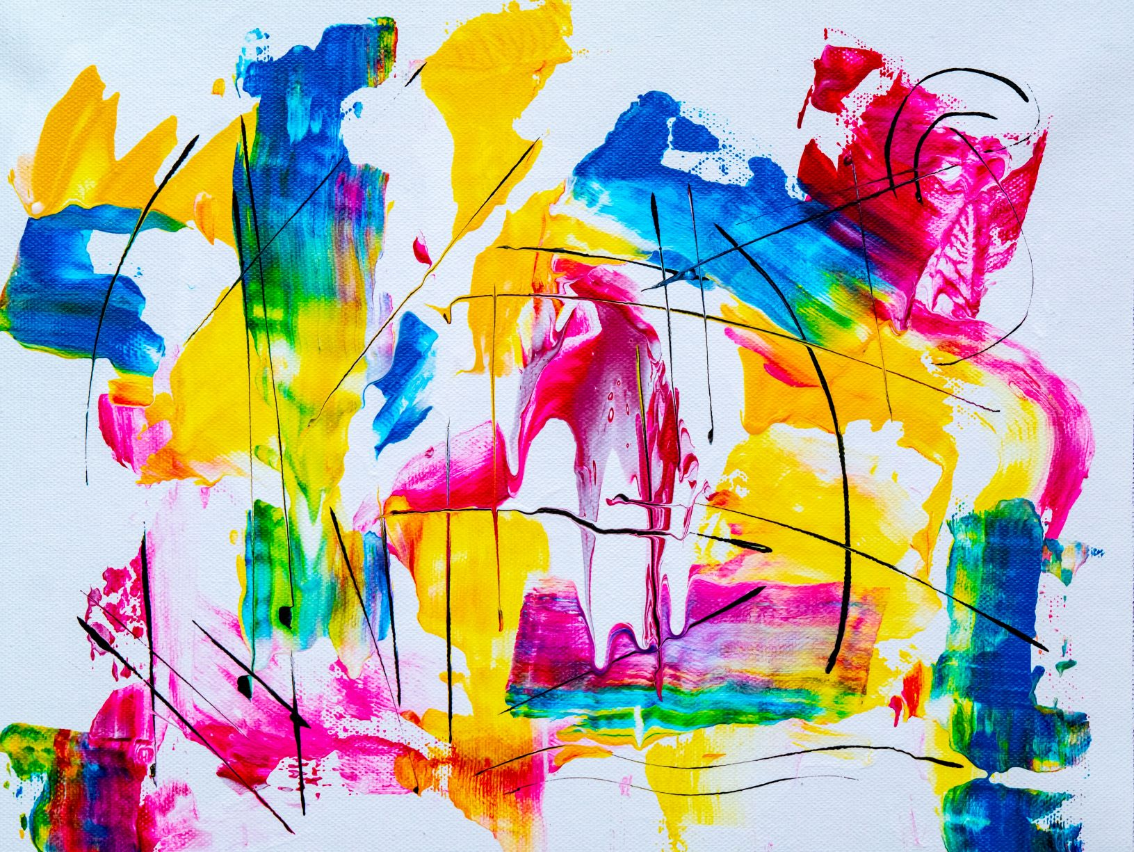 Colourful abstract canvas
