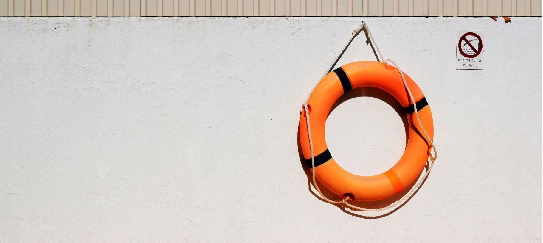 life buoy hanging on a wall