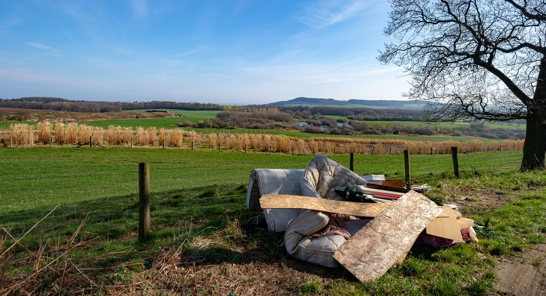 rubbish dumped in the countryside