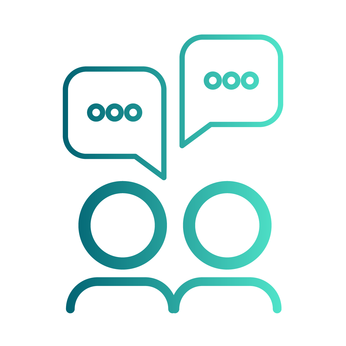 Two people speaking icon